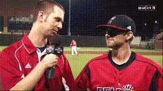 Some baseball post-game shenanigans…