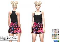 Clothing: Racerback Cami Bodycon from NY Girl Sims Sims 4 Dresses, Sims 4 Clothing, Sims 4 Update, Sims 4 Mods, Sims 4 Custom Content, Sims Cc, Cami, Pants, Ballet Skirt