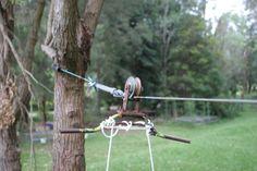 Home made backyard flying fox pulley zipline FROM Green Change