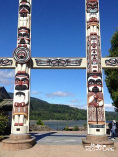 Exploring Olympic National Park in Washington - Jamestown S'Klallam tribal totem poles