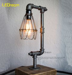 100.00$  Watch here - http://alircp.worldwells.pw/go.php?t=32331479397 - Loft Edison industrial retro personality conduit lamp Coffee shop decoration creative desk lamp decorative light 100.00$