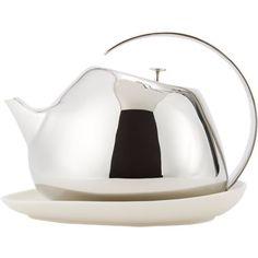 Georg Jensen Helena Teapot & Coaster Set: lovely