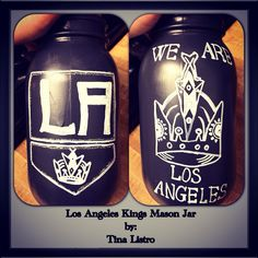 Los Angeles Kings Opening Song Inspired Mason Jar by, Tina Listro