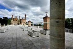 Terrasse de la chapelle Clermont Ferrand, Chapelle, Pisa, Sidewalk, Tower, Public, Patio, Building, Outdoor Decor