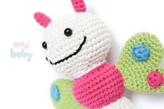 Mariposa sonajero patron lilleliis, regalo perfecto para tu bebe.Butterfly rattle pattern lilleliis, perfect gift for your baby.