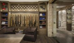 Perfect for any baseball enthusiast, Gary Matthews Jr.'s Corona del Mar home comes complete with a custom glass enclosed trophy case to showcase memorabilia.