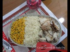 Frango e codorna no creme de cebola -Chicken with onion cream