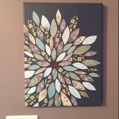 Wall Art - Spray paint a canvas, cricuit cut the leaves using scrapbook paper, and glue on to make some wall art. I love this! All I would need to buy would be the canvas and paint