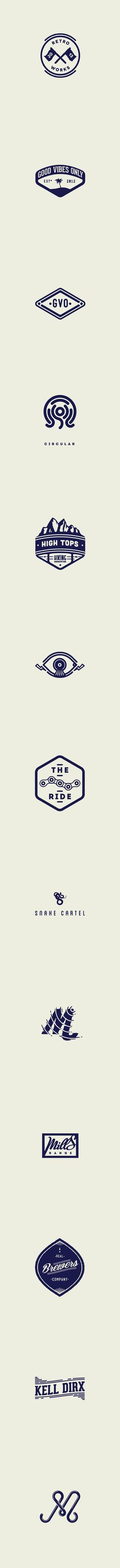 MARKS & BADGES by Gijs Dries, via Behance