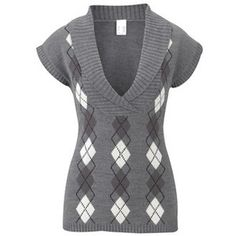 Argyle tank top - Tank tops - bonprix.co.uk - Polyvore