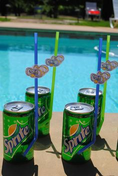 Pool Party…Scuba Straws for drinks