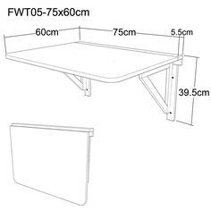 furniture to make Wall Table Diy, Wall Mounted Table, Diy Desk, Woodworking Furniture Plans, Pallet Furniture, Diy Woodworking, Home Furniture, Folding Walls, Study Room Decor