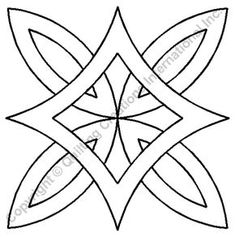 Patchwork Patrones Free Pattern Wedding Ring Ideas For 2019 Quilting Stencils, Quilting Templates, Machine Quilting Designs, Stencil Patterns, Quilting Tips, Quilting Tutorials, Quilt Patterns, Deco Cuir, Celtic Patterns