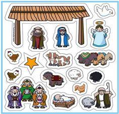 Faith-based Items > Toys A Child is Born Magnet Set (Nativity story)