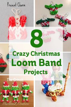 Crazy Loom Band Christmas Projects!