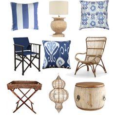 """Blue & Bamboo"" by coastalstyleblogspot on Polyvore"