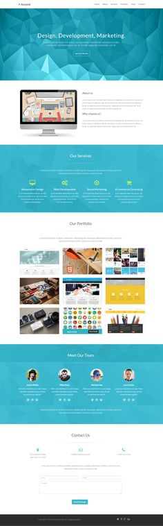 Ascend Free One Page Template