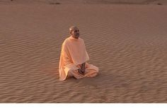 """Lessons From the Sand Radhanath Swami: """"I was sitting on the sand, thinking this sand was so cool and it's giving me such shelter. Then I was analyzing the nature of sand. That the same sand that's now so cool and so comfortable to sit, earlier in the day, it was burning hot, I couldn't tolerate it. And then in another place the same kind of sand, was sucking me down to suffocate me and kill me. How sand is so influenced by it's surroundings….and isn't that like human nature, according to…"""