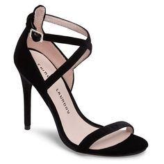 Women's Chinese Laundry Lavelle Ankle Strap Sandal ($80) ❤ liked on Polyvore featuring shoes, sandals, black, black sandals, ankle wrap sandals, strappy sandals, chinese laundry sandals and high heel stilettos