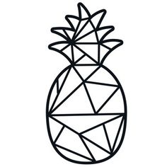 Silhouette Design Store - View Design #189043: geometric pineapple