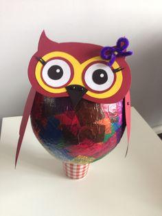 ... Laterne Eule Mit Kindern Basteln Luftballon+Transparentpapier+Kleister