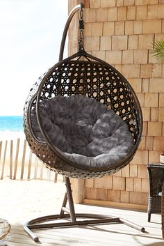 She nurtured you until you were ready to leave the nest, so reward your mother with a stylish, relaxing perch from Pier 1. Our Birdseye Swingasan® Chair is generously sized and made of all-weather rattan over a rust-resistant, wrought iron frame. Swingasan® Stand sold separately. Indoor Swing, Zen Room, Papasan Chair, Outside Living, Condo Living, Home Upgrades, Swings, Home Decor Bedroom, Home Accents