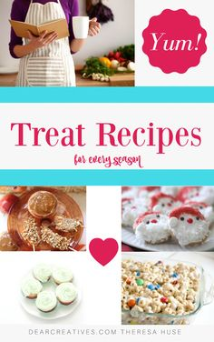 Treat Recipes a growing collection of treat recipes and ideas for every season.This treats recipe page is always being added to. The hardest thing will be picking just one to make! Processco Cocktails, Tasty Cookies, Quick Recipes, Original Recipe, No Bake Desserts, Krispie Treats, Clean Eating Snacks, Biscotti, Granola