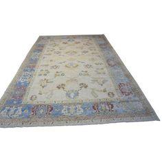 "Turkish Oushak Area Rug - 11'1"" X 17'1"" ($8,000) ❤ liked on Polyvore featuring home, rugs, medallion rug, turkish area rugs, medallion area rug, turkish rugs and pile rug"