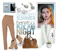 """""""Light blue and brown"""" by maytal-gazit ❤ liked on Polyvore"""