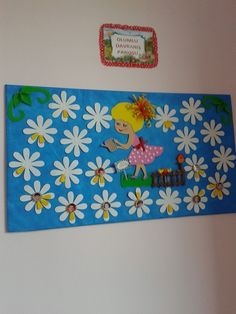 "Képtalálat a következőre: ""classroom flowers"" Kids Bulletin Boards, Classroom Board, Classroom Decor, Birthday Charts, Diy And Crafts, Paper Crafts, Board Decoration, Spring Crafts For Kids, Teachers' Day"