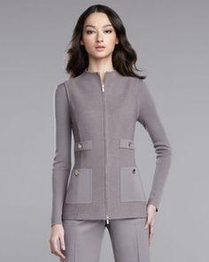 Pique-Knit Vest