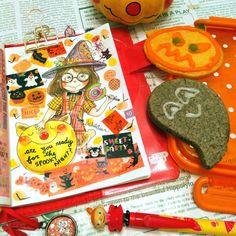 "chikatetsu-n: "" Cute cookies~♪ 山崎パン屋の可愛いクッキー #art #doodle #watercolour #painting #illustration #drawing #stationery #diary #planner #sketch #sketchbook #hobonichi #ほぼ日手帳 #水彩画 #文房具 #絵日記 #cute #chikatetsun #inktober #halloween #girl #maskingtape..."