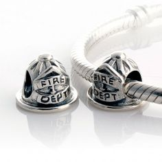 CLFJ185 925 Sterling Silver Fire Cap Pandora Charms beads Jewelry.
