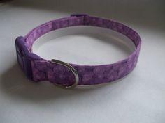 Handmade Cotton Dog Collar - Purple Swirls by WalkingTheDog on Etsy