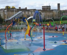 Kensington Memorial Park water play area. London