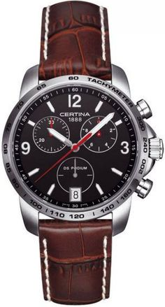 Certina Watch DS Podium Chrono Quartz #bezel-fixed #bracelet-strap-leather #brand-certina #case-material-steel #case-width-40mm #chronograph-yes #date-yes #delivery-timescale-7-10-days #dial-colour-black #gender-mens #luxury #movement-quartz-battery #official-stockist-for-certina-watches #packaging-certina-watch-packaging #style-sports #subcat-ds-podium #supplier-model-no-c001-417-16-057-00 #warranty-certina-official-2-year-guarantee #water-resistant-100m