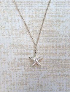 Starfish Necklace. Sterling Silver Starfish Necklace. Symbolic Necklace. Everyday Necklace.. $28.00, via Etsy.