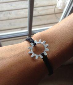 Macrame Bracelet  Gear by YourLittleBits on Etsy