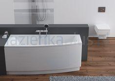 Wanna asymetryczna 160 x 70 lewa Aquaform Arcline 241-05317 - wyposażenie łazienek - Lazienkaplus.pl