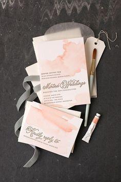 DIY Watercolored Letterpress Invites | Julep