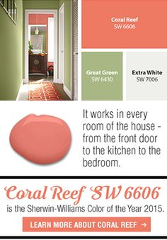 Say Hello to Coral Reef - Sherwin-Williams 2015 Color of the Year