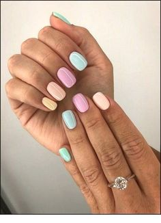 Nail - 47 Most Eye-catching And Gorgeous Light Colour Nails Design With Different Color. - - 47 Most Eye-catching And Gorgeous Light Colour Nails Design With Different Colors For Beginner - Nail Idea Lιɠԋƚ Cσʅσυɾ Nαιʅʂ 💖 Summer Acrylic Nails, Cute Acrylic Nails, Cute Nails, My Nails, Gradient Nails, Nail Summer, Nail Ideas For Summer, Cute Short Nails, Gelish Nails