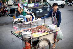 Street vendor in Pattaya, Thailand