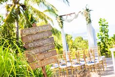 Signage for your wedding ceremony. Photo by Anne Sophie - Samui Pics