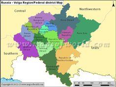 Russia Volga Region Map