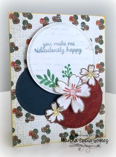 Ridiculously Happy with Martha Hello dear friends, Martha Lucia here to share with you another creation with the new paper collections. In today's project I am using papers from Earth Wind Fire and Honeycomb. Take a look at my card: