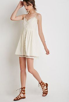 Lace-Trimmed Cami Dress | Forever 21 - 2052287944