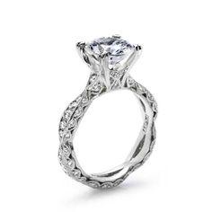 Engagement Ring via Computer Aided Design - see: http://hardasdiamond.com