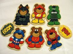Teddy Bear Superhero Cookies Are Super Adorable...omgoodness, these are so adorable!!!