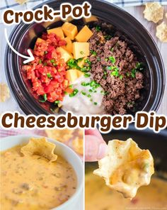 Potluck Slow Cooker Recipes, Slow Cooker Hamburger Recipes, Slow Cooker Dips, Slow Cooker Appetizers, Crockpot Recipes, Cooking Recipes, Crockpot Dishes, Yummy Recipes